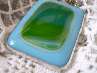 Blue and green pendant by ioglass