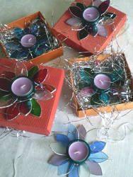 Festive candle holders by ioglass