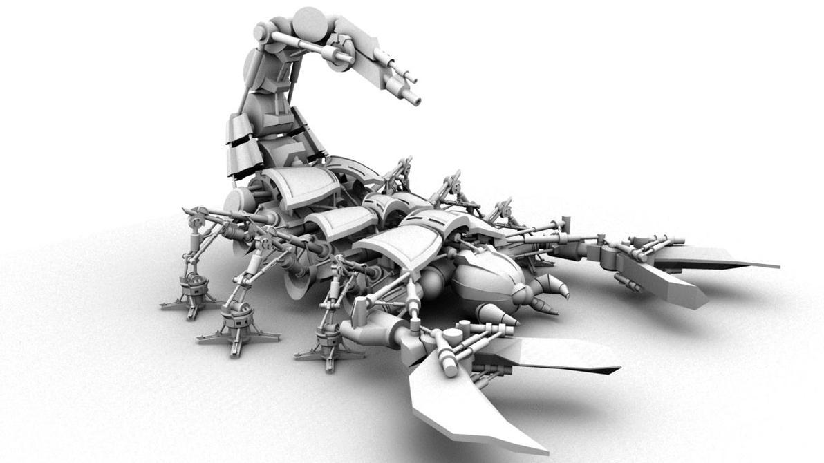 Mechanical Scorpion Shot 1 By Sandxl On DeviantArt