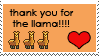 Thank you For the Llama Badge~!! by angelica-micah