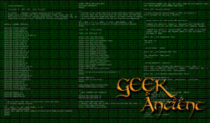 Wallpaper Geek Ancient by Mergorti