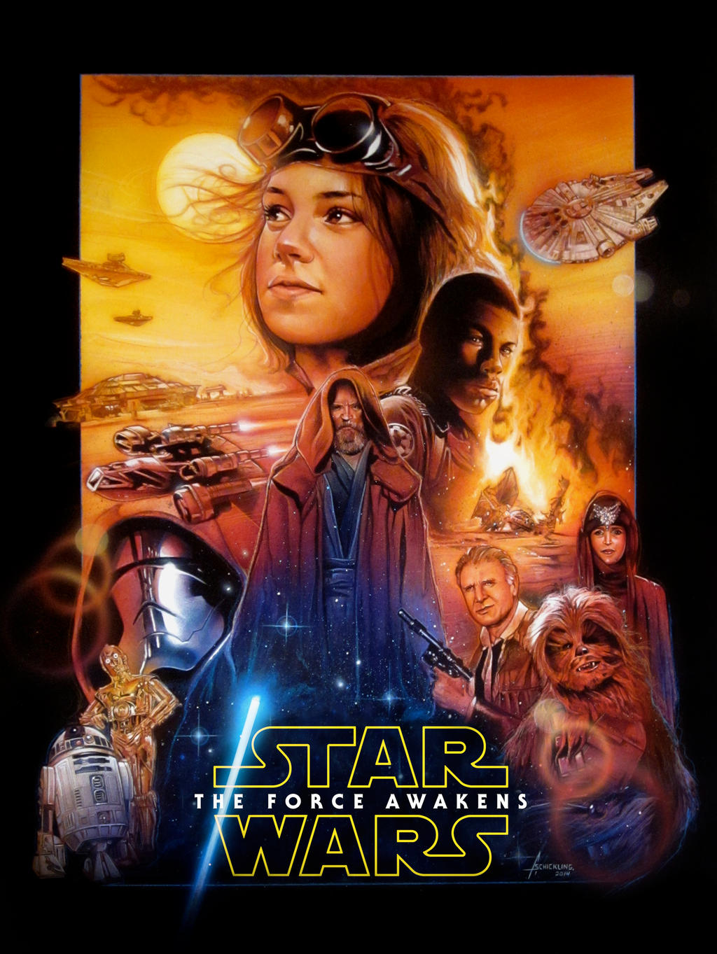 star wars the force awakens poster by rampantimaginationa. Black Bedroom Furniture Sets. Home Design Ideas