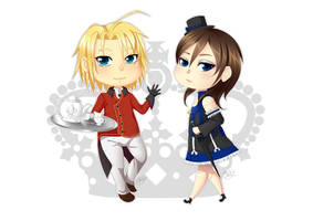 Quince and Diana chibis