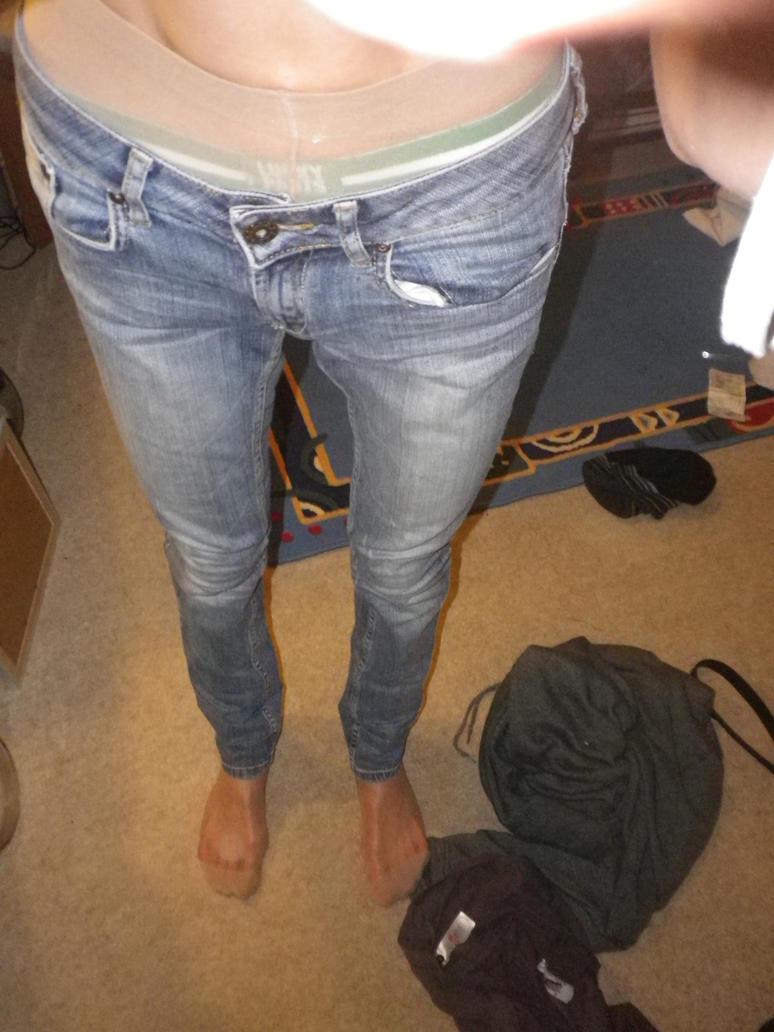 Denim jeans pantyhose
