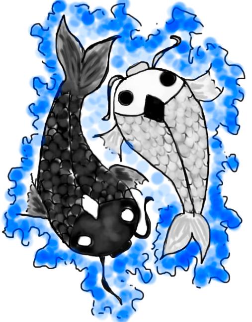 Yin yang koi fish by lissaswc33 on deviantart for Yin and yang koi fish