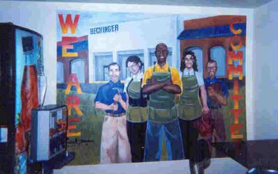 Hechinger Co. mural by biomechlizardchick
