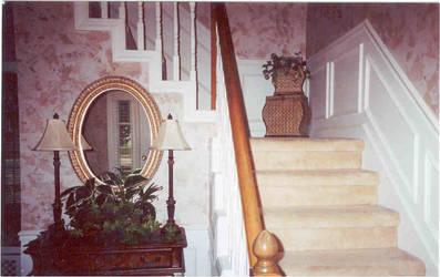 Gwen's foyer, Faux finish by biomechlizardchick