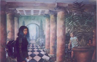HCCC mural by biomechlizardchick