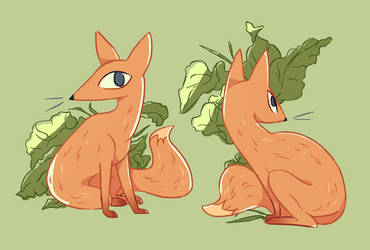 Fox and Leaves by uuzon