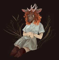 Deer Girl by uuzon