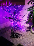 Wire LED Bonsai tree lamp wip6 by braindeadmystuff