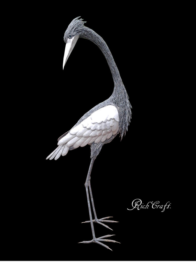 Heron black by braindeadmystuff