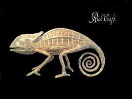 Chameleon wire sculpture