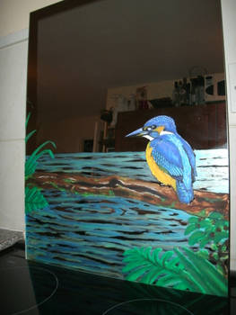 Kingfisher Mirror wip5