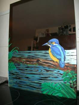 Kingfisher Mirror wip5