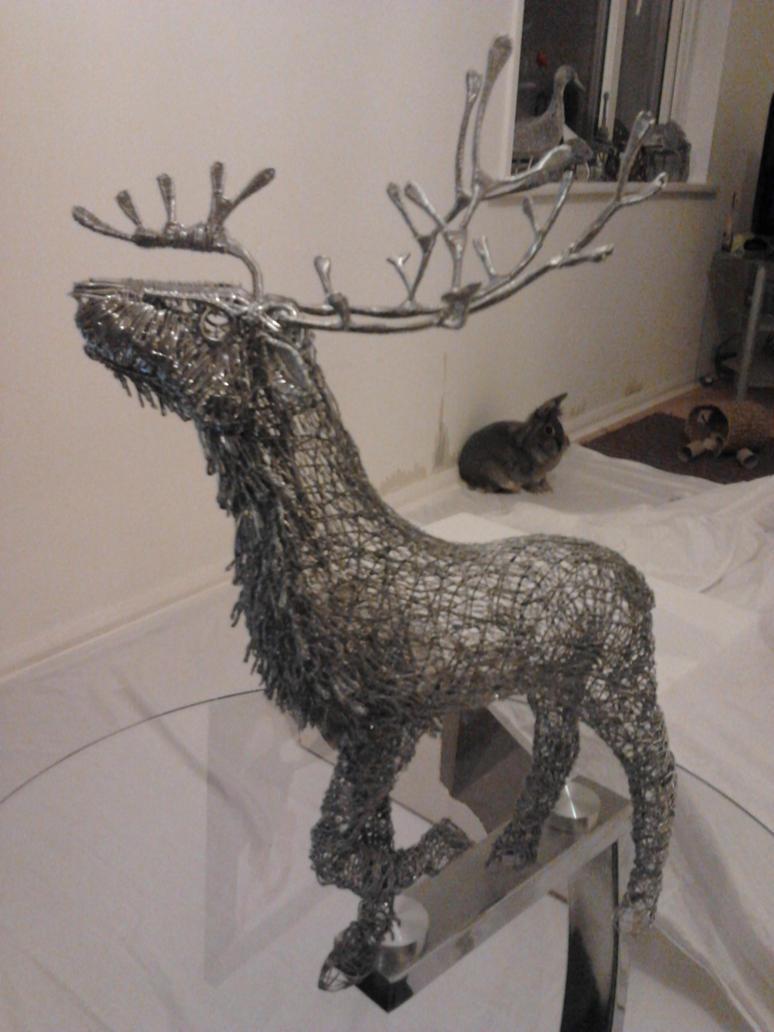 Stag Sculpture wip update 8 by braindeadmystuff