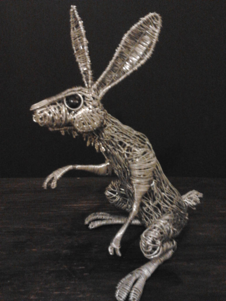 New Hare sculpture1 by braindeadmystuff