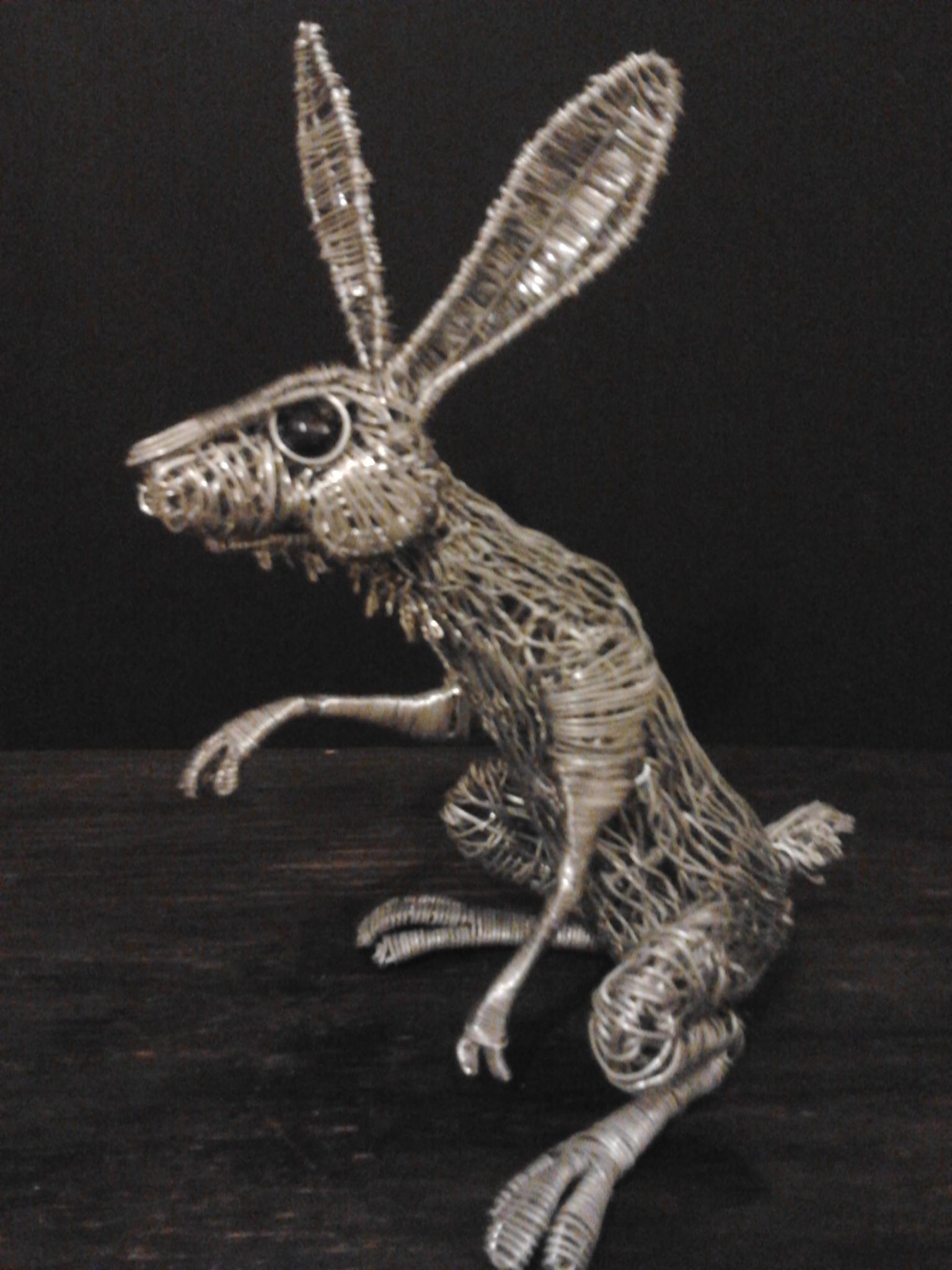 New Hare sculpture1 by braindeadmystuff