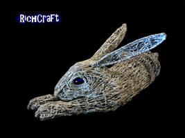 Lazy rabbit Sculpture new wip Tricias 10