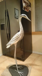 Heron sculpture 4 by braindeadmystuff