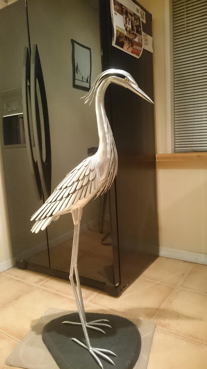 Heron sculpture 4 by braindeadmystuff