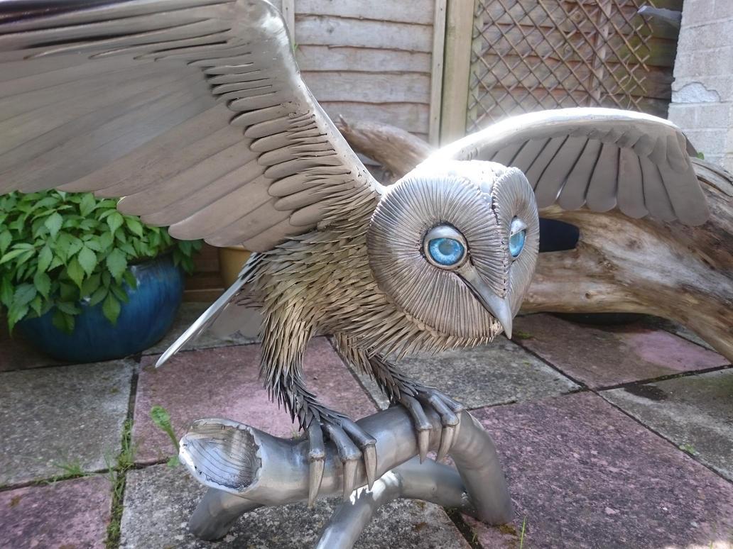 Barn Owl sculpture 2016 by braindeadmystuff