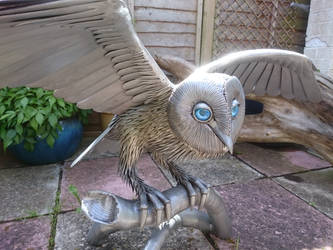 Barn Owl sculpture 2016 by braindeadmystuff