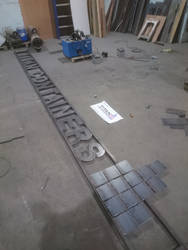 25 foot steel sign project
