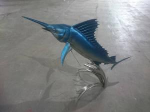 Marlin fish sculpture