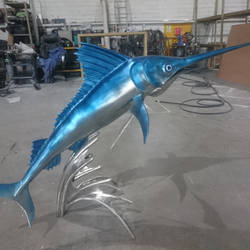 Marlin fish sculpture 2 by braindeadmystuff