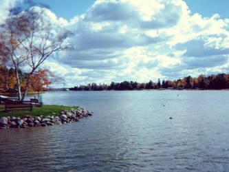 Bench by the Lake by xSilverRavenWingsx