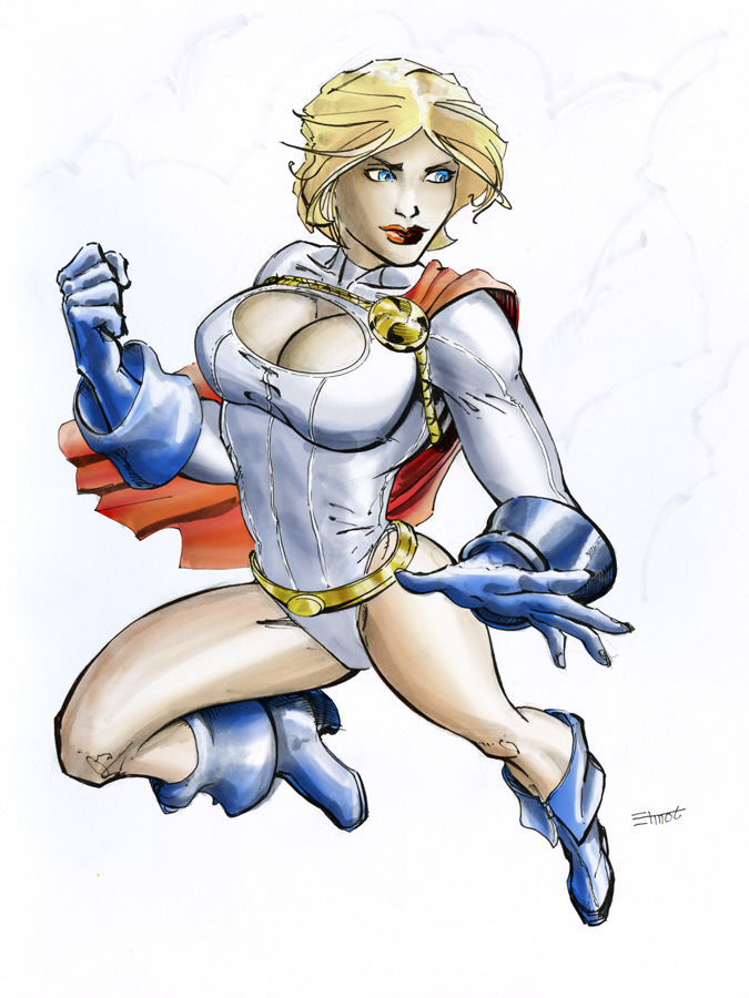 Power Girl marker enhanced by cehnot