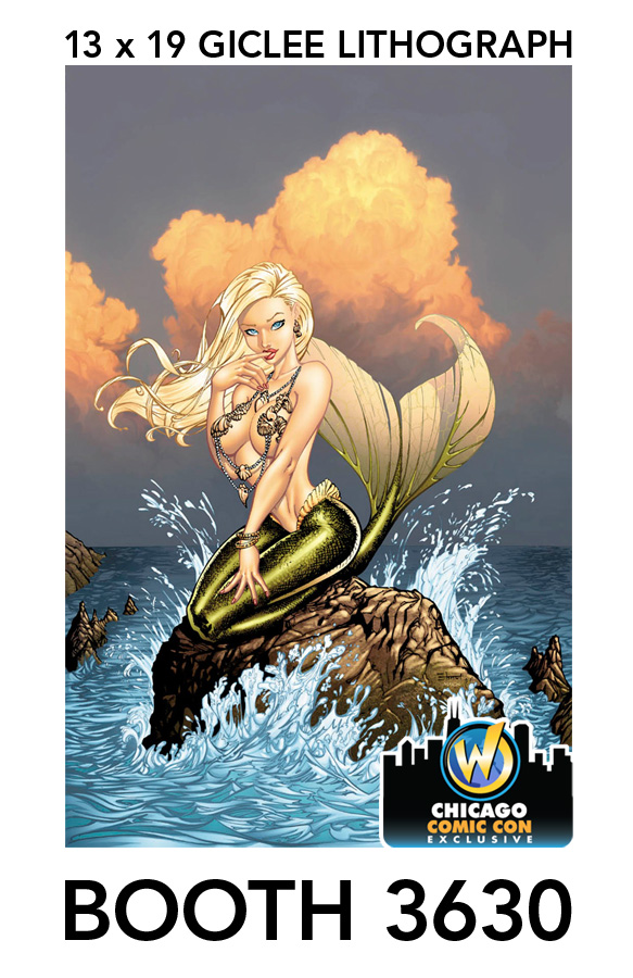 Mermaid Lithograph by cehnot