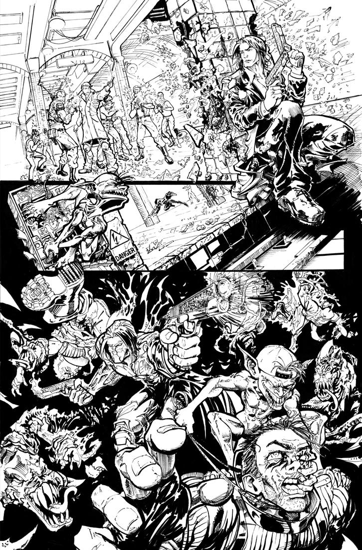 The Darkness II Contest - inks - Chris Ehnot by cehnot