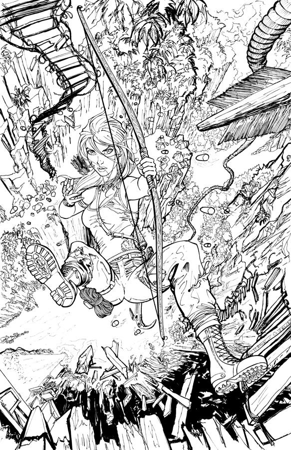 Lara Croft Reborn 01 Ink by cehnot