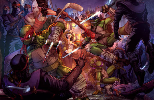 Teenage Mutant Ninja Turtles Protecting April