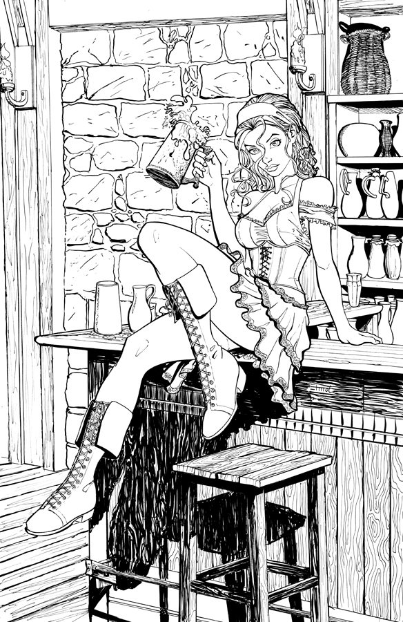 Barmaid ink by cehnot