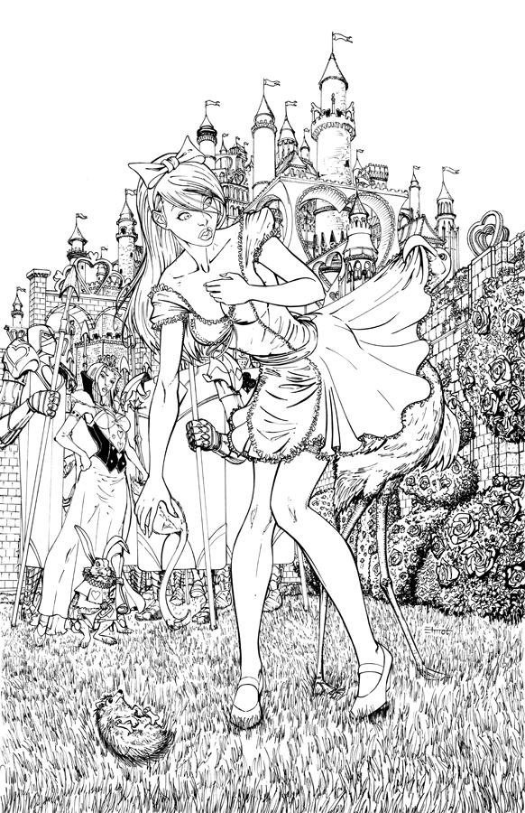 Alice Wonderland Croquet Game By Cehnot On DeviantArt