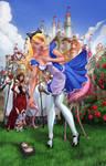 Alice Wonderland Croquet game Color
