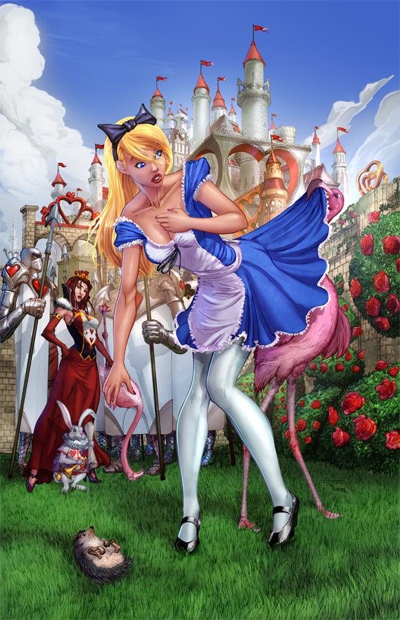 Alice Wonderland Croquet game Color by cehnot