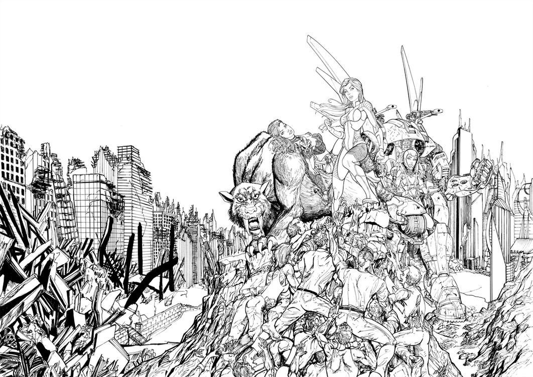Guilty Pleasures: The Art of Chris Ehnot cover ink by cehnot