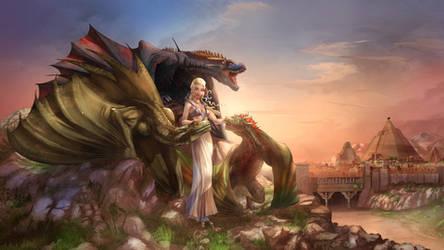 Daenerys Queen of Meereen color by cehnot