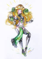 Overwatch: watercolor Orisa humanization by Inntary