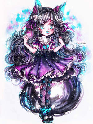[CM] Liner art | Watercolor chibi by Inntary