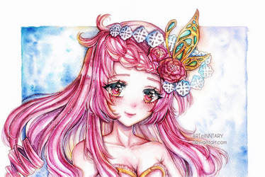 [CM] Watercolor art - Azalea by Inntary