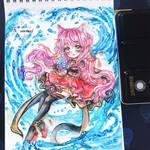 Watercolor chibi art by Inntary
