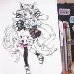 Chibi ink art - Yuyu-chan