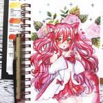 Watercolor Art trade - neko by Inntary