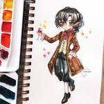 Watercolor chibi comission - Mister Vampire
