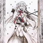 Ink commission art - Ferid Bathory